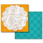 Prima - Paisley Road Collection - 12 x 12 Double Sided Paper - Dandiya, CLEARANCE