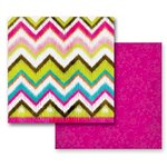 Prima - Paisley Road Collection - 12 x 12 Double Sided Paper - Mondovi Ikat, CLEARANCE