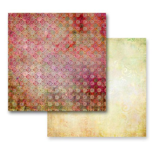 Prima - Fairy Flora Collection - 12 x 12 Double Sided Paper - Summer Storm