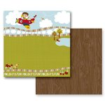 Prima - Road Trip Collection - 12 x 12 Double Sided Paper - Twists and Turns, CLEARANCE