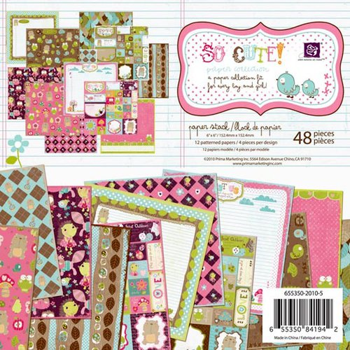 Prima - So Cute Collection - 6 x 6 Paper Pad