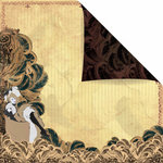 Prima - Moulin Rouge Collection - 12 x 12 Double Sided Paper - Folies Bergere