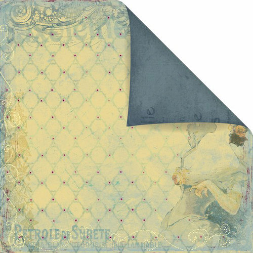Prima - Back Stage Collection - 12 x 12 Double Sided Paper - Celeste