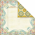 Prima - Reflections Collection - 12 x 12 Double Sided Paper - Flourish