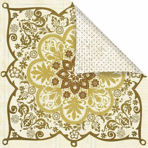 Prima - Reflections Collection - 12 x 12 Double Sided Paper - Shalimar