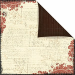 Prima - Reflections Collection - 12 x 12 Double Sided Paper - Scribe