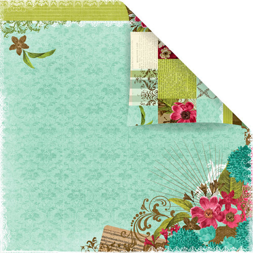 Prima - Madeline Collection - 12 x 12 Double Sided Paper - Madeline