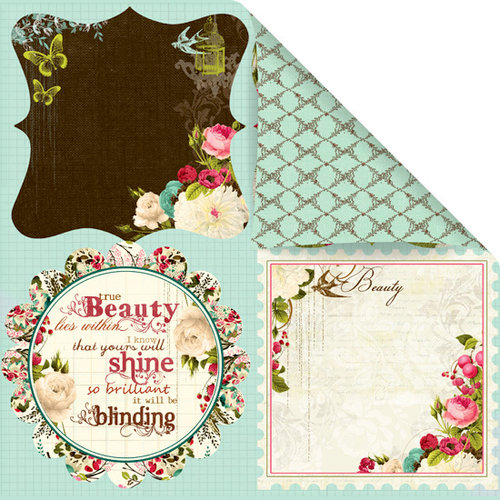 Prima - Madeline Collection - 12 x 12 Double Sided Paper - Beautima