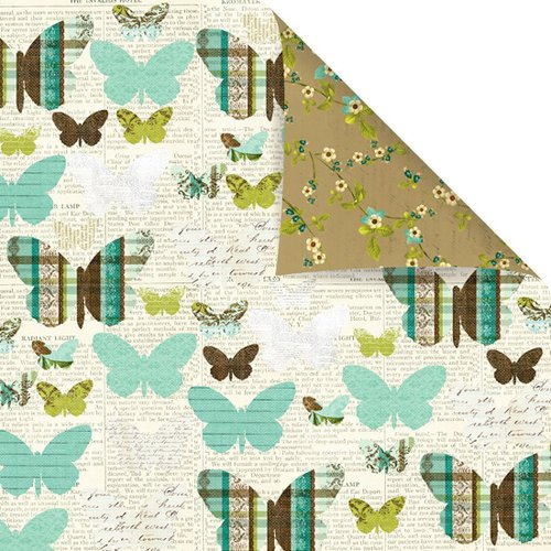 Prima - Madeline Collection - 12 x 12 Double Sided Paper - Skyward