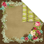 Prima - Madeline Collection - 12 x 12 Double Sided Paper - Bella Donna
