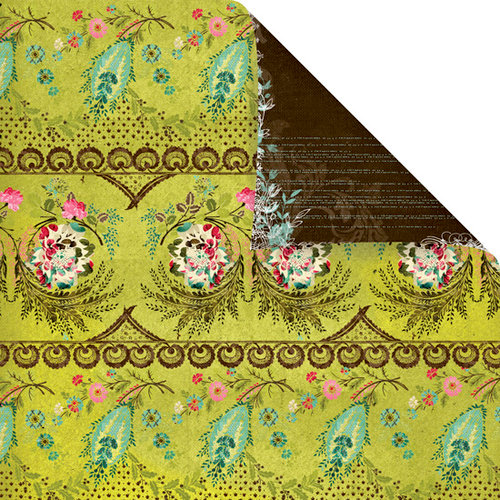 Prima - Madeline Collection - 12 x 12 Double Sided Paper - Pistachio