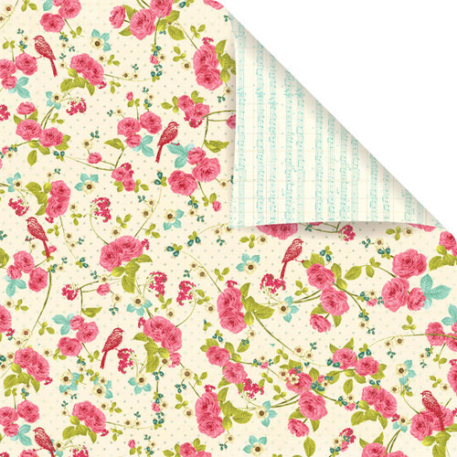 Prima - Madeline Collection - 12 x 12 Double Sided Paper - Spring Tide