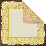 Prima - Melody Collection - 12 x 12 Double Sided Paper - Timeless
