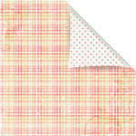 Prima - Sparkling Spring Collection - 12 x 12 Double Sided Paper - Pink Apron