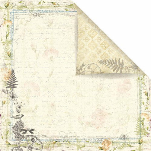 Prima - Botanical Collection - 12 x 12 Double Sided Paper - Candle Light
