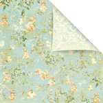 Prima - Botanical Collection - 12 x 12 Double Sided Paper - Romance, BRAND NEW