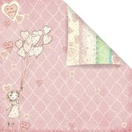 Prima - Celebrate Jack and Jill Collection - 12 x 12 Double Sided Paper - Be Mine