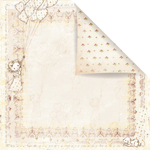Prima - Celebrate Jack and Jill Collection - 12 x 12 Double Sided Paper - Up, Up, and Away