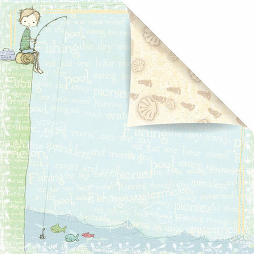 Prima - Celebrate Jack and Jill Collection - 12 x 12 Double Sided Paper - Lazy Days