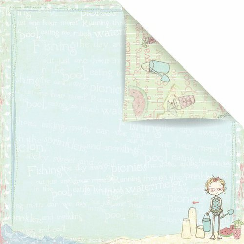 Prima - Celebrate Jack and Jill Collection - 12 x 12 Double Sided Paper - Beach Party