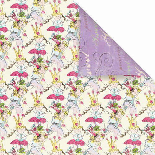 Prima - Sweet Fairy Collection - 12 x 12 Double Sided Paper - Fairy Garden