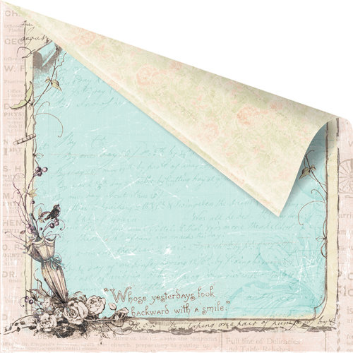Prima - Pixie Glen Collection - 12 x 12 Double Sided Paper - Window View