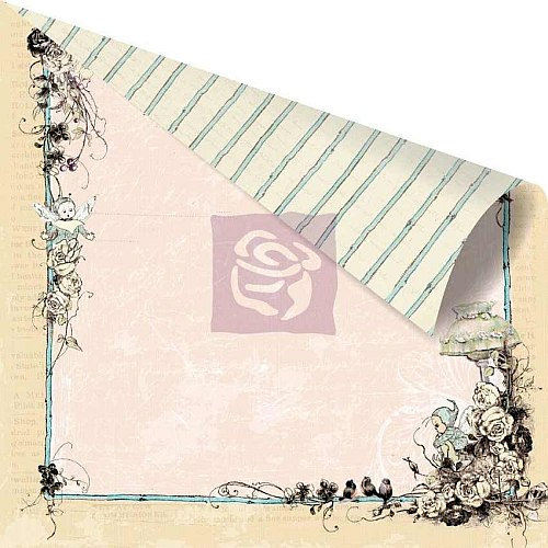 Prima - Pixie Glen Collection - 12 x 12 Double Sided Paper - Garden Gate