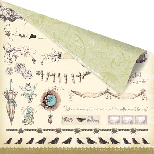 Prima - Pixie Glen Collection - 12 x 12 Double Sided Paper - Pyske Cuts