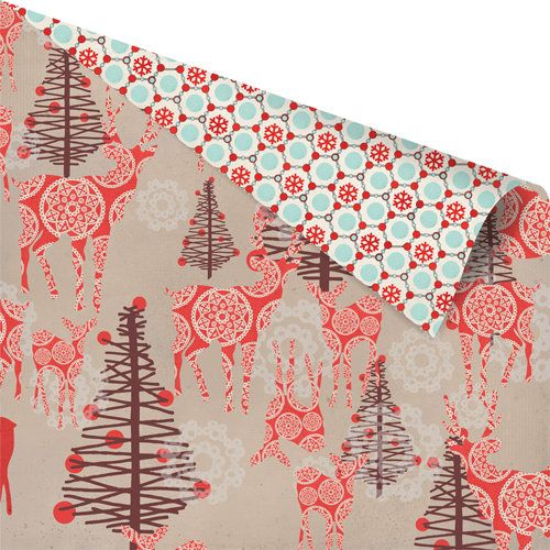 Prima - North Country Collection - Christmas - 12 x 12 Double Sided Paper - Red Deer