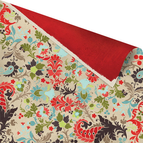 Prima - North Country Collection - Christmas - 12 x 12 Double Sided Paper - Maine Meadow