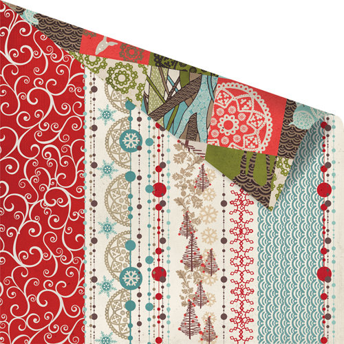Prima - North Country Collection - Christmas - 12 x 12 Double Sided Paper - Glacier Roads