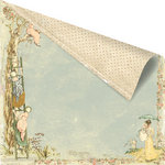 Prima - Romantique Collection - 12 x 12 Double Sided Paper - Orchard