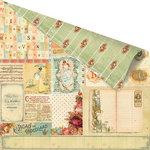 Prima - Romantique Collection - 12 x 12 Double Sided Paper - Ha'Penny