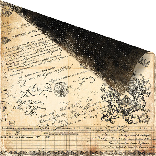 Prima - Printery Collection - 12 x 12 Double Sided Paper - Signature