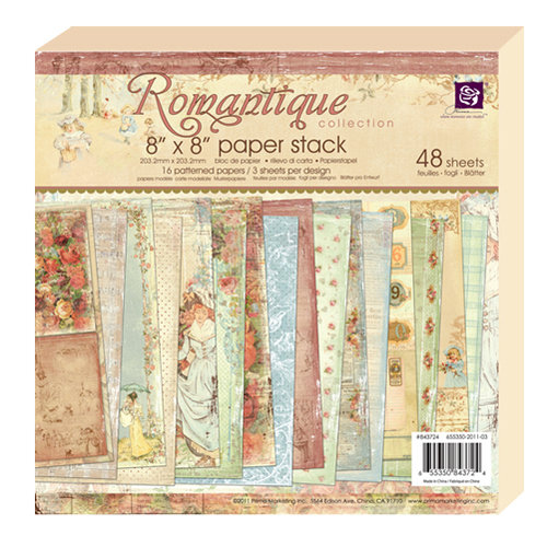 Prima - Romantique Collection - 8 x 8 Paper Pad
