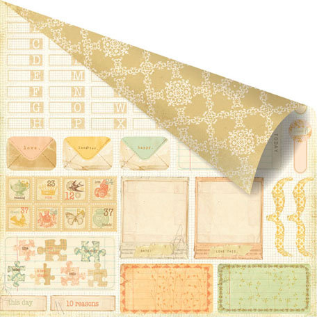Prima - Songbird Collection - 12 x 12 Double Sided Paper - Tag-It