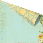 Prima - Sun Kiss Collection - 12 x 12 Double Sided Paper - Sun Dried