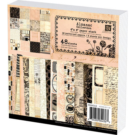 Prima - Almanac Collection - 6 x 6 Paper Pad