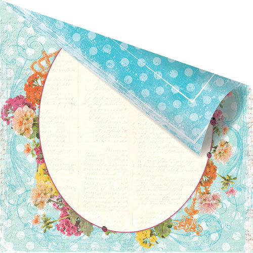 Prima - Zephyr Collection - 12 x 12 Double Sided Paper - Angelus