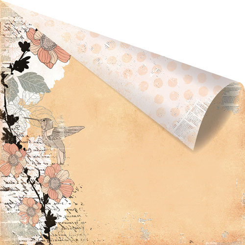 Prima - Rondelle Collection - 12 x 12 Double Sided Paper - Carbriole