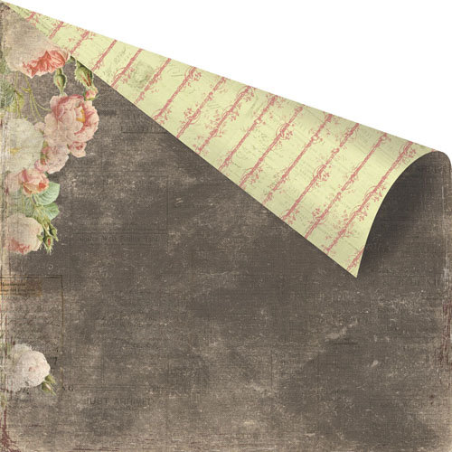 Prima - Tea-Thyme Collection - 12 x 12 Double Sided Paper - Marcella