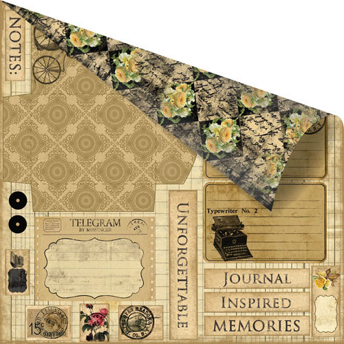 Prima - Romance Novel Collection - 12 x 12 Double Sided Paper - Messenger