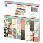 Prima - School Memories Collection - 6 x 6 Paper Pad