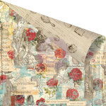 Prima - Bella Rouge Collection - 12 x 12 Double Sided Paper - Sauvignon Roses