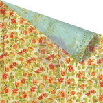 Prima - Bella Rouge Collection - 12 x 12 Double Sided Paper - Belles Fleurs