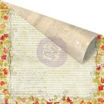 Prima - Bella Rouge Collection - 12 x 12 Double Sided Paper - Sentiments