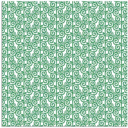 Prima - Signs Of Spring Collection - 12 x 12 Glittered Transparency Sheet - Gardenridge, CLEARANCE