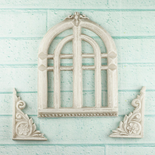Prima - Architecture Collection - Resin Embellishments - Old Church Window