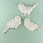 Prima - Shabby Chic Collection - Resin Treasure Embellishments - Sparrows