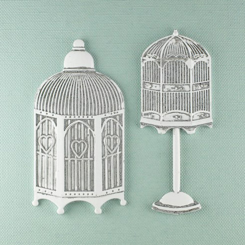 Prima - Shabby Chic Collection - Metal Treasure Embellishments - Hutches
